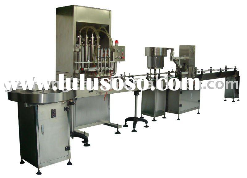 Oyster sauce and Seasoning oil Filling, Capping, Labeling and Coding Automatic Package Line