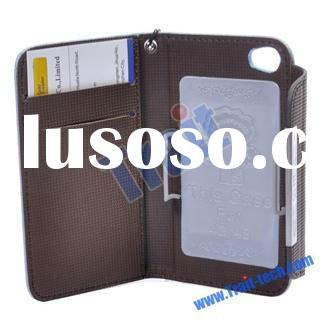 Perfect for Boss Wallet Luxury Leather Case for iPhone 4&iPhone 4S