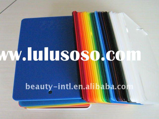 Plastic cast colored acrylic sheet
