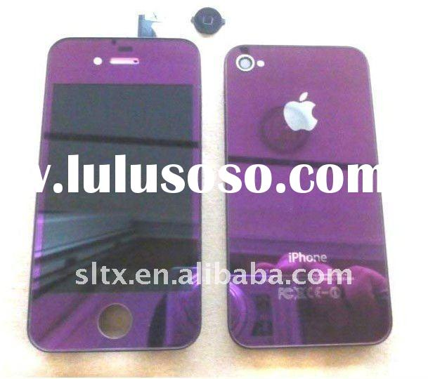 Plating Purple color for iPhone 4 Conversion Kits(LCD display screen + Touch Screen Digitizer + Back