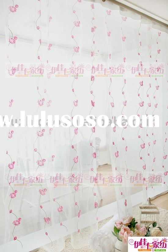 Polyester embroidery voile curtain design 2012