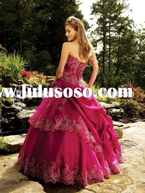 QB137 Sparkle taffeta and tulle ball gowns quinceanera dress