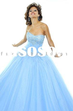 RQ007 Stylish bridesmaid dress pageant Princess dress formal evening dress prom gown Quinceanera Dre