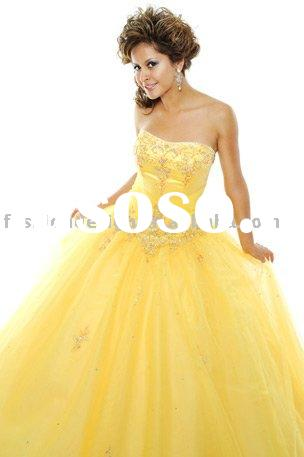 RQ008 Stylish tulle bridesmaid dress pageant Princess dress formal evening dress prom gown Quinceane