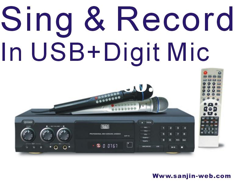 Recordable Midi DVD/ CD/CDG Player with USB/Card Reader,DVD/CD/CDG/MP4/MP3/WMA/JPEG