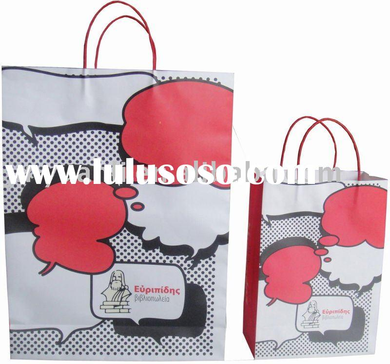 Recyclable kraft Paper Bag for shopping