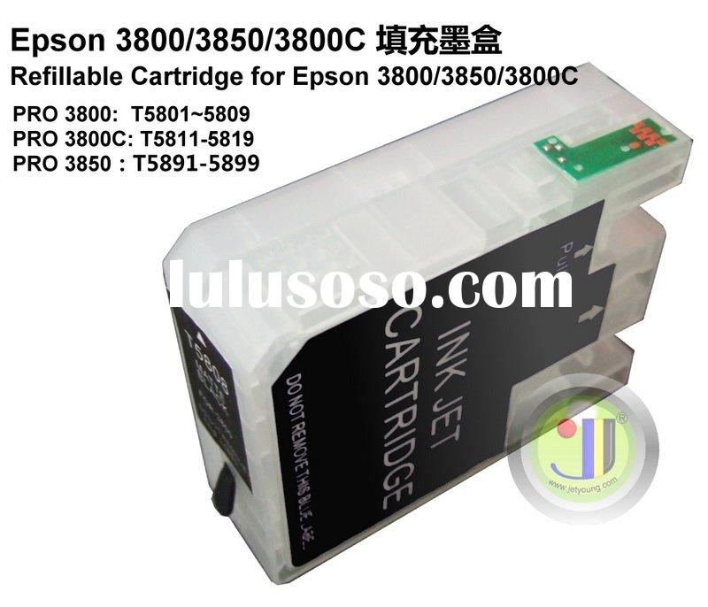 Refillable cartridge for Epson 3800 3850 3800C with ARC auto reset chip