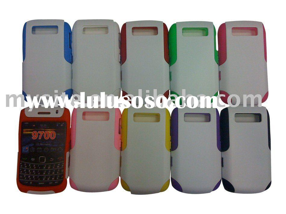Robots hard shell silicon case for BlackBerry 9700