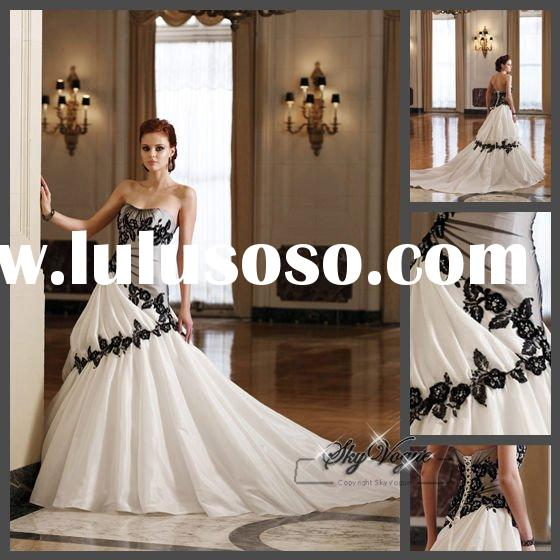 SP2952* black lace wedding dress