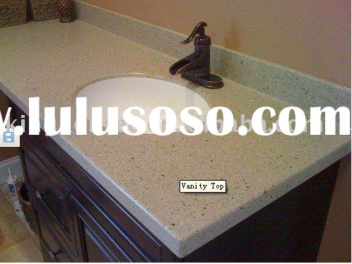 Seamless Artificial Marble Bathroom Vanity Top
