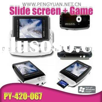 "Slide 2.8"" TFT MP4 Media Player (Games, SD Card Extended Memory, 1.3 Mega Camera & DV, Rech"