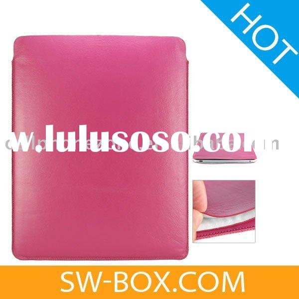 Soft Leather Pouch Sleeve Case Cover For iPad - Magenta /For iPad case