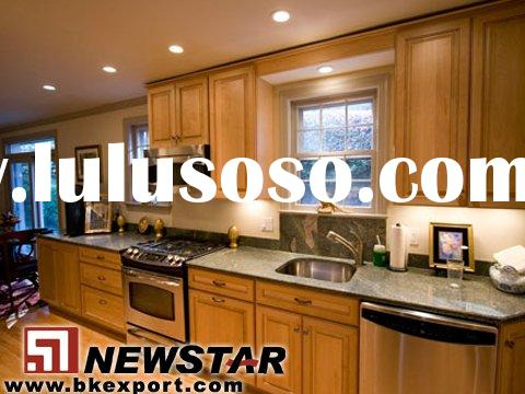 Solid Oak Wood Kitchen Cabinet with Granite Counter Tops (American Style Kitchen Cabinet)