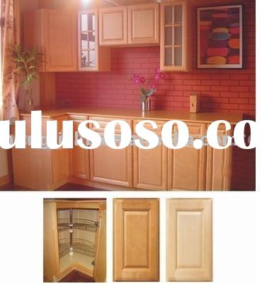 Solid wood Natural Maple Kitchen Cabinet (HJKC-11)