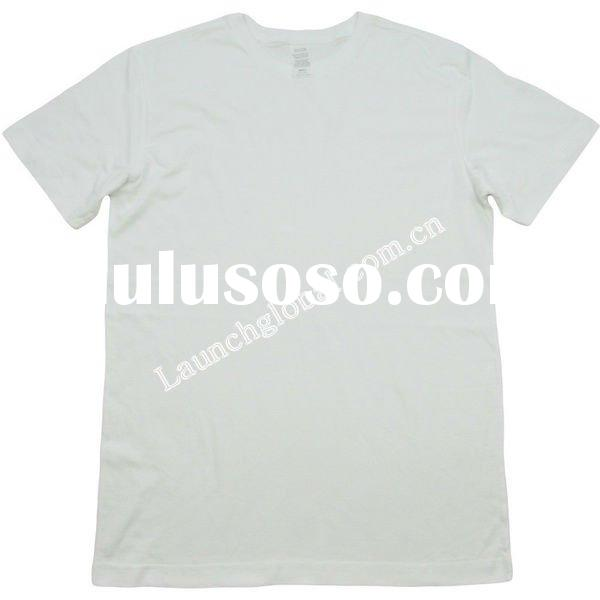 Stock Men Bulk Blank White Cotton T-shirts