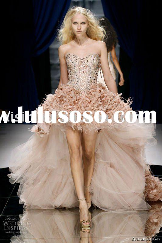 TY-1118 Luxury Zuhair Murad off the shoulder wedding dress 2011