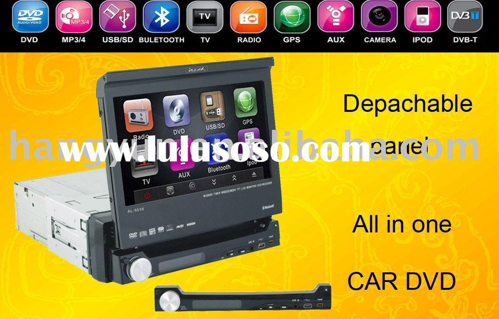 Touch Car stereo system gps(all in one) with depachable panel