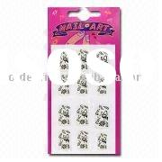 Trendy Nail Art Sticker, Made of Premium Material, Customized Designs are Accepted
