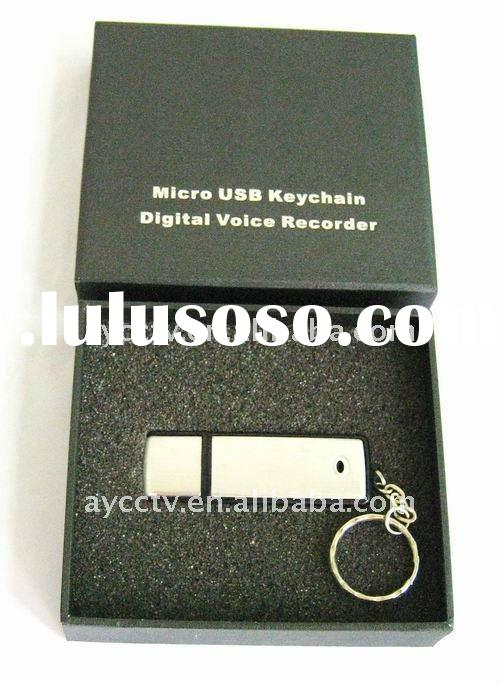 USB Keychain Digital Voice Recorder (high quality, attractive appearance)
