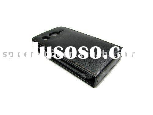 Vertical Flip Mobile phone Leather case for HTC Desire HD