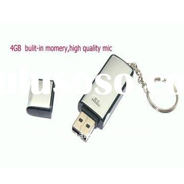 Voice active USB Keychain Digital Voice Recorder,4G