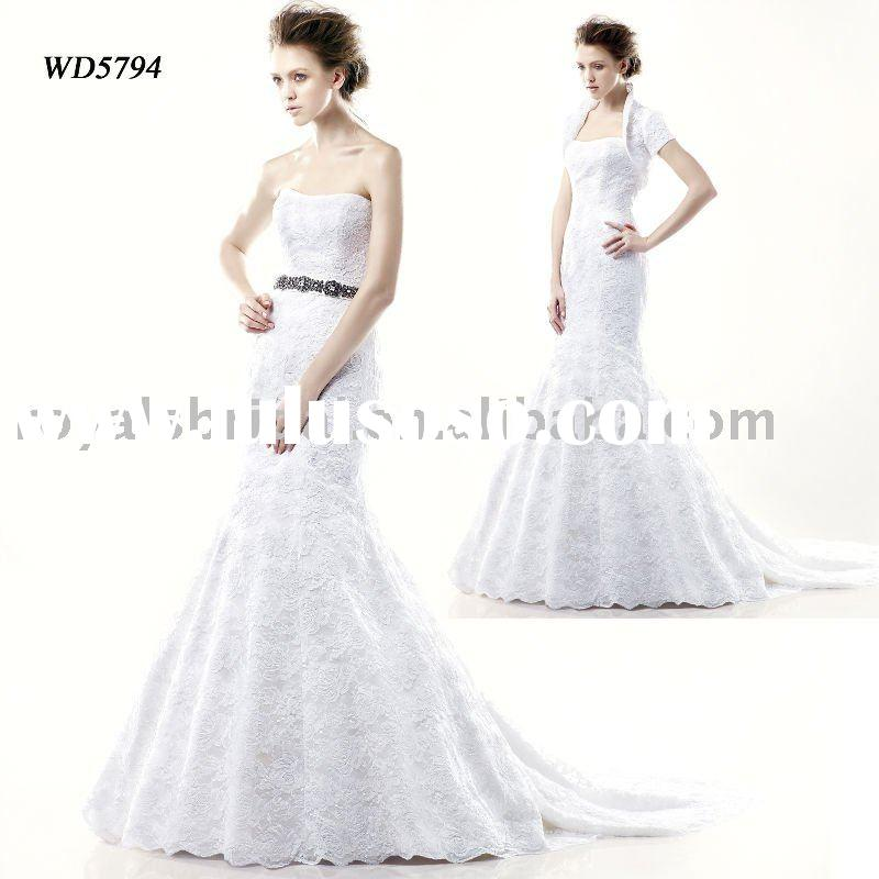 WD5794 Latest Style Off-Shoulder Wedding Gown