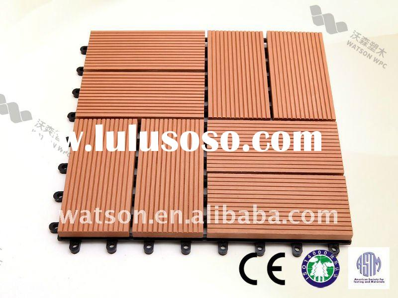 WPC MATERIAL DIY DECKING RECYCLABLE
