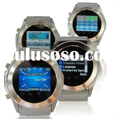 Watch Mobile Phone,Stainless Steel,Support MP3/MP4/Camera