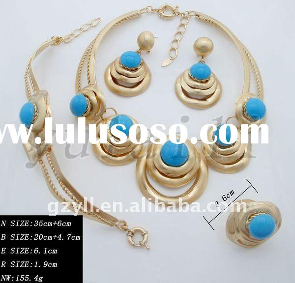 Wholesale 2012 fashion classical indian gold-plating wedding jewelry set