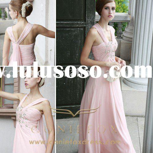 Wholesale Fancy pink wedding Bridesmaid Gowns 80553