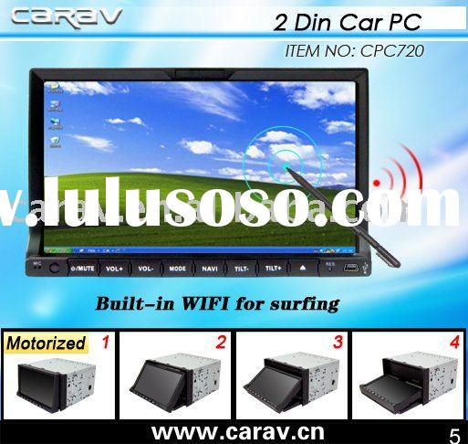 Windows XP 7 inches, HD touch screen DOUBLE DIN CAR COMPUTER with GPS/BIUETOOTH/3G/WIFI optinal