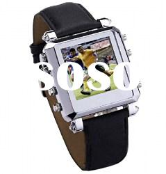 Wrist Watch MP4 Player- 2GB, 1.5-inch OLED True Color Screen, Support FM/Recording/Repeat