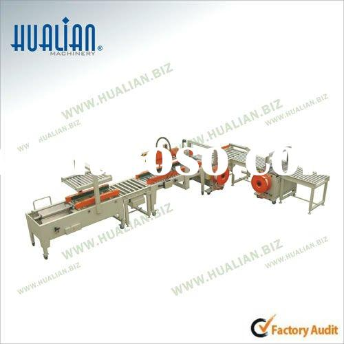 XFK-3 Automatic Carton Sealing Strapping Packing Line