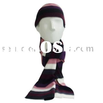 acrylic scarf & hat,knitted scarf,man winter set,acrylic hat,knitted hats,knitting scarf,acrylic