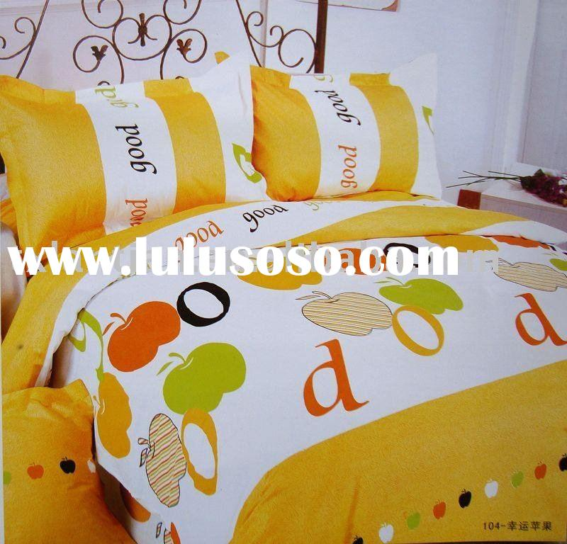 bedding set with 4 pcs pure cotton printing,sheet ,pillowcase ,quilt cover