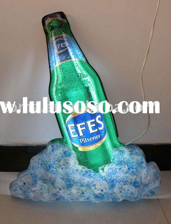 bottle shaped acrylic advertising light box