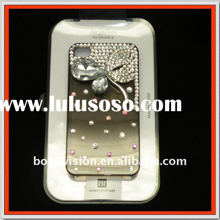 butterfly bling stone design mobile phone case for iphone 4 gS