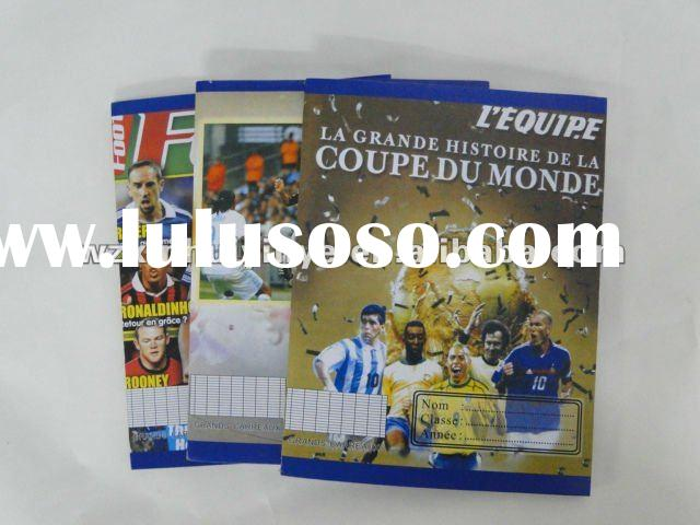 cheap bulk France notebook with fancy designs for school student