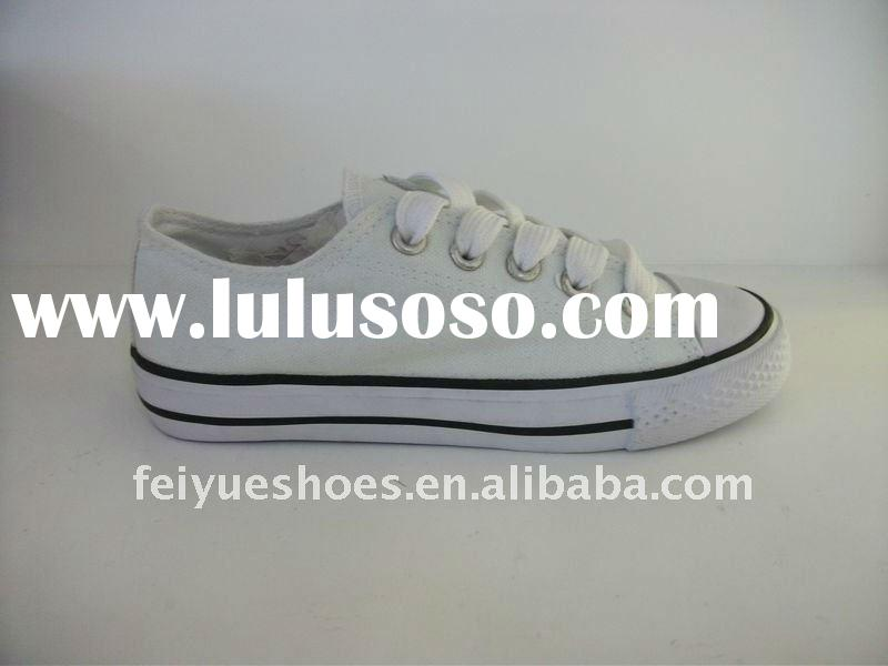 Plain White Canvas Shoes In Bulk