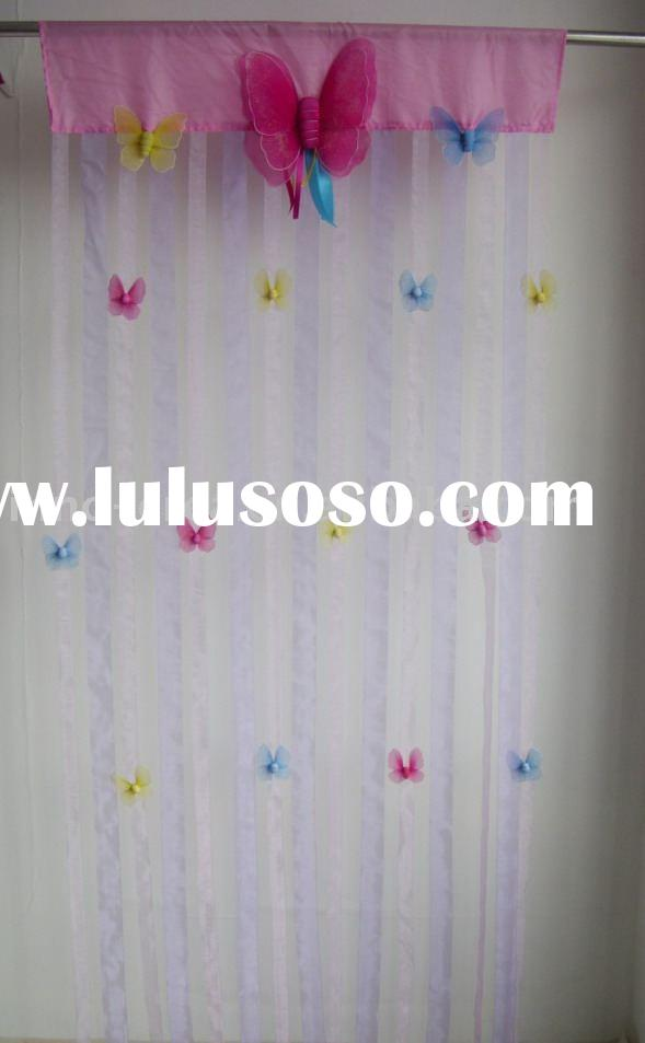 decorative butterfly door string curtain with beads