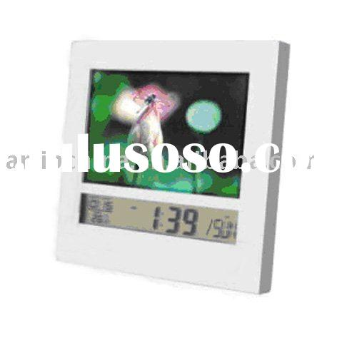digital photo frame clock , icd table clock , digital photo frame