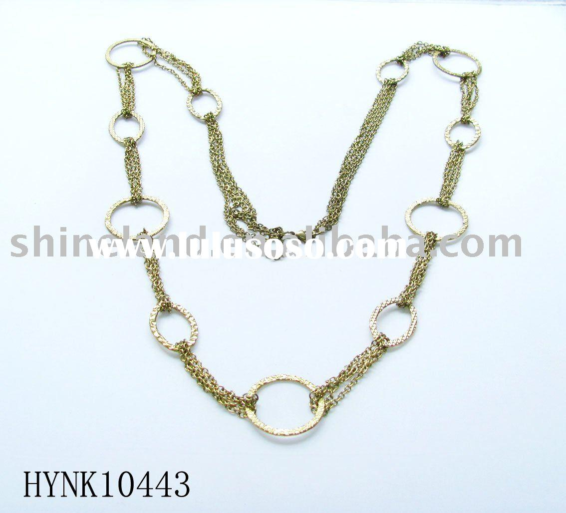 fashion gold chain necklace HYNK10443/ gold filled jewelry