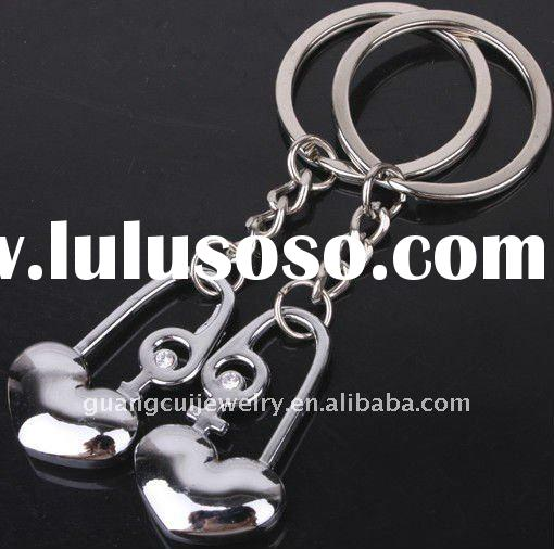 fashion metal keychain promotion key chain wholesale keyring key ring lobster clasp love keyring