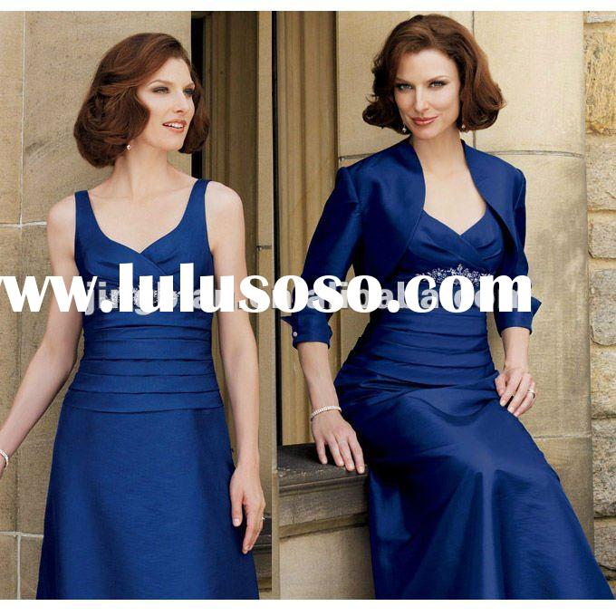 floor length royal blue mother of the bride dresses SC1121