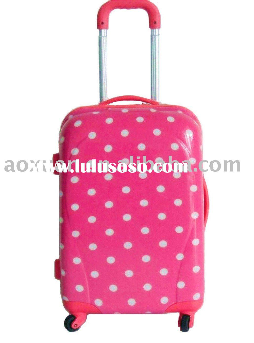 girls lovely colorful korea PC trolley suitcase