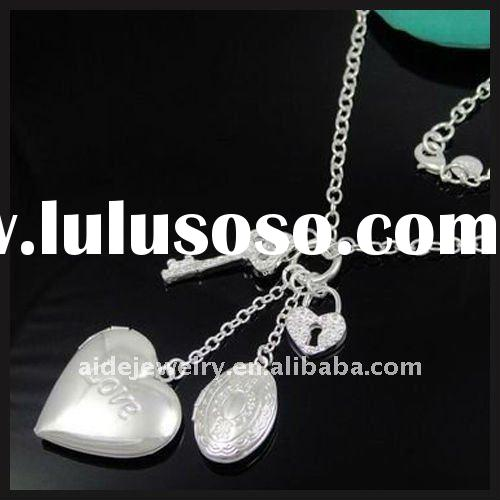 heart key and lock jewellery charms Necklace and fashion necklace