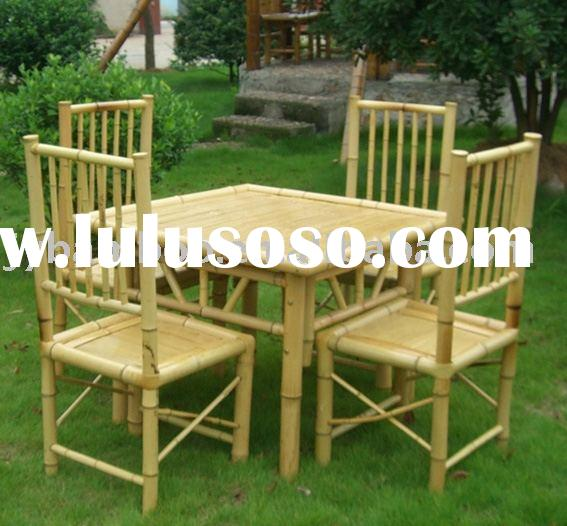 Bamboo Table And Chair For Sale