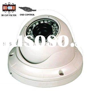 ip cctv with 36 pieces IR-LED varifocal lens and Housing VandalProof securiyt dome camera