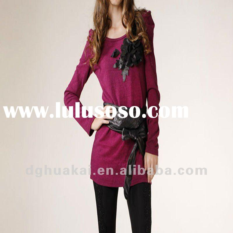 ladies korea fashion blouse and top HK-022202