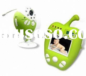 lovely green apple baby video monitor